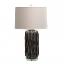 "27.75""H Ceramic Table Lamp with Crystal Base"