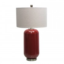 "28.75""H Ceramic Table Lamp with Metal Base"