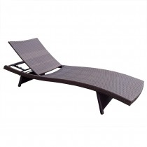 Wicker Adjustable Chaise Lounger Without Cushion - Set of 2