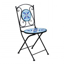 Metal Mosaic Bistro Folding Chair