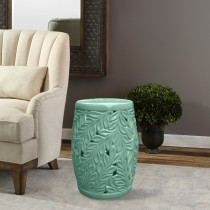 18 Inch H Ceramic Garden Stool