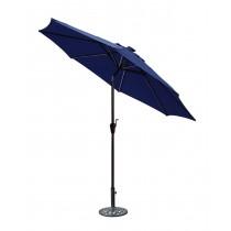 9 FT Aluminum Umbrella w/ Crank and Solar Guide Tubes