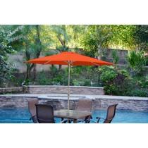 9ft. Aluminum Patio Market Umbrella Tilt w/ Crank - Orange Fabric/Grey Pole