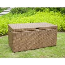 Honey Wicker Patio Furniture Storage Deck Box