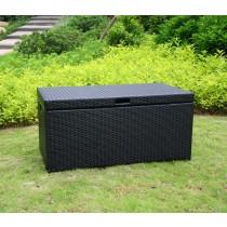 Black Wicker Patio Furniture Storage Deck Box
