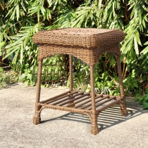 Outdoor Honey Wicker Patio Furniture End Table