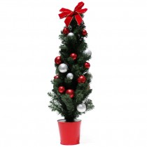 "48"" Potted Tree with Ornaments"