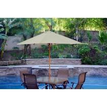 9ft. Wood Market Umbrella