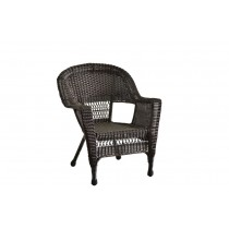 Espresso Wicker Chair Without Cushion - Set of 4