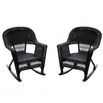 Rocker Wicker Chair Without Cushion-  Set of 2