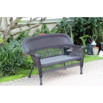 Espresso Wicker Patio Love Seat