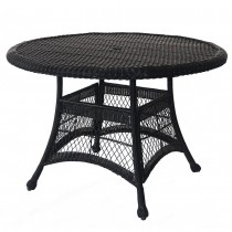"Espresso Wicker 44"" Round Dining Table"