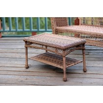 Honey Wicker Patio Furniture Coffee Table