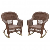 Honey Rocker Wicker Chair Without Cushion -  Set of 2