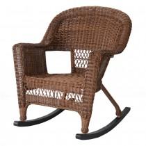 Honey Rocker Wicker Chair