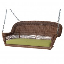 Resin Wicker Porch Swing With Cushions