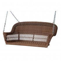 Honey Resin Wicker Porch Swing