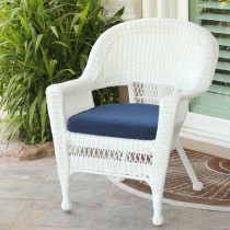 White Wicker Chair With Cushion