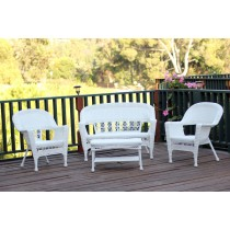 4pc Wicker Conversation Set Without Cushion