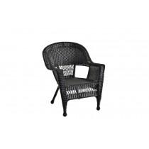 Black Wicker Chair - Set of 4