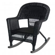 Black Rocker Wicker Chair