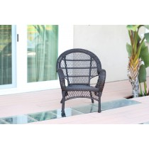 Santa Maria Espresso Wicker Chair Without Cushion - Set of 4