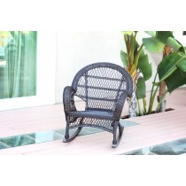 Santa Maria Espresso Rocker Wicker Chair - Set of 4