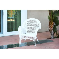 Santa Maria White Wicker Chair Without Cushion - Set of 4
