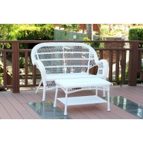 Santa Maria Wicker Patio Love Seat And Coffee Table Set Without Cushion