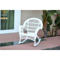Santa Maria White Rocker Wicker Chair - Set of 4