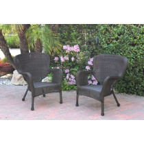 Windsor Espresso Resin Wicker Chair