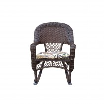 Resin wicker rocking chair with 2 in seat cushion and Aluminum Glider