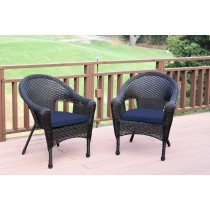 Set of 2 Resin Wicker Clark Single Chair with Cushion