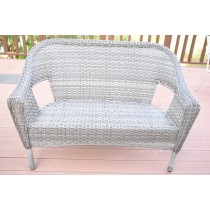 Grey Resin Wicker Clark Loveseat