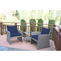 Mirabelle 3 Pieces Bistro Set with 2 Inch Cushion