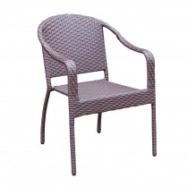 Cafe Curved Stacking Wicker Chairs - Set of 4