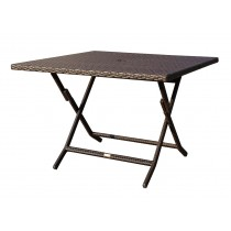 Cafe Square Folding Wicker Table