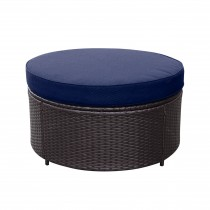 Resin Wicker Cartagena Curved modular Sectional Round Ottoman with 3.5in Cushion