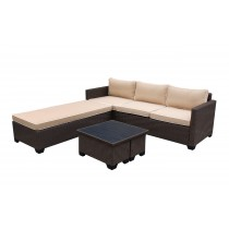 Saint Helena 5pcs Conversation set with Tan Cushions