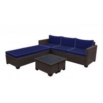 Saint Helena 5pcs Conversation set with Midnight Blue Cushions