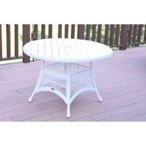 """Wicker 44"""" Round Dining Table with Faux Wood"""
