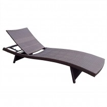 Wicker Adjustable Chaise Lounger