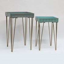S/2 Metal Planter Table