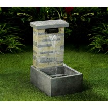 Stone Finish Water Fall Fountain with LED Light