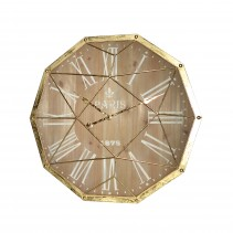 "27"" Gold Metal Decoration Wall Clock"