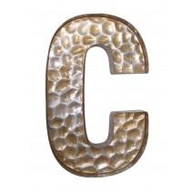 Honeycomb Patterned Letter C