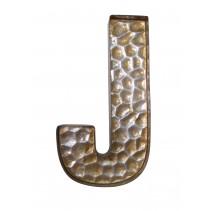 Honeycomb Patterned Letter J