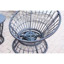 Papasan Espresso Resin Wicker Swivel Chair