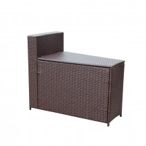 Resin Wicker Cartagena  Curved modular Sectional Storage Side Table