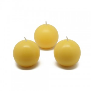"2"" Yellow Citronella Ball Candles (12pc/Box)"